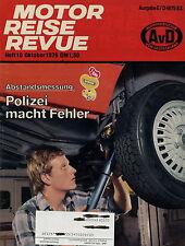 Motor Reise Revue 10 1979 Ford Taunus Opel Kadett Wilk 650 Mercedes 350 SE 126