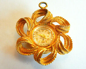 Vintage Sovereign Swiss Made Small Pendant Pocket Watch Necklace Wind Up Watch