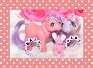 My-Little-Pony-MLP-G1-Vintage-1984-Pink-amp-Purple-Baby-Ember-Mail-Order-Lot