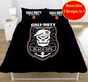 Copripiumino Ragazzi.Ufficiale Call Of Duty Black Ops Doppio Set Copripiumino Ragazzi