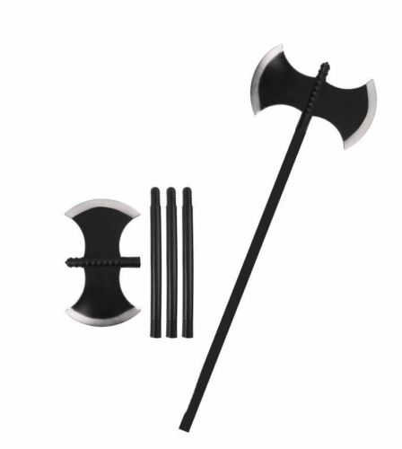 Plastic Axe Viking Warrior Medieval Executioner Fancy Dress Halloween Prop 110CM