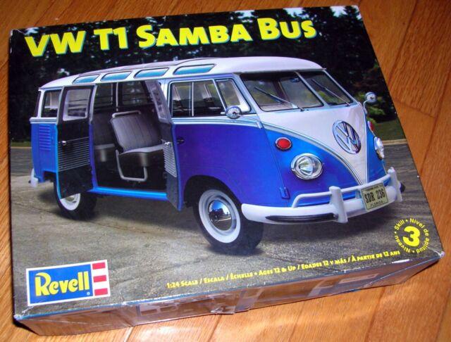 Revell Vw T1 Samba Bus Model Kit 1 24th Scale Factory
