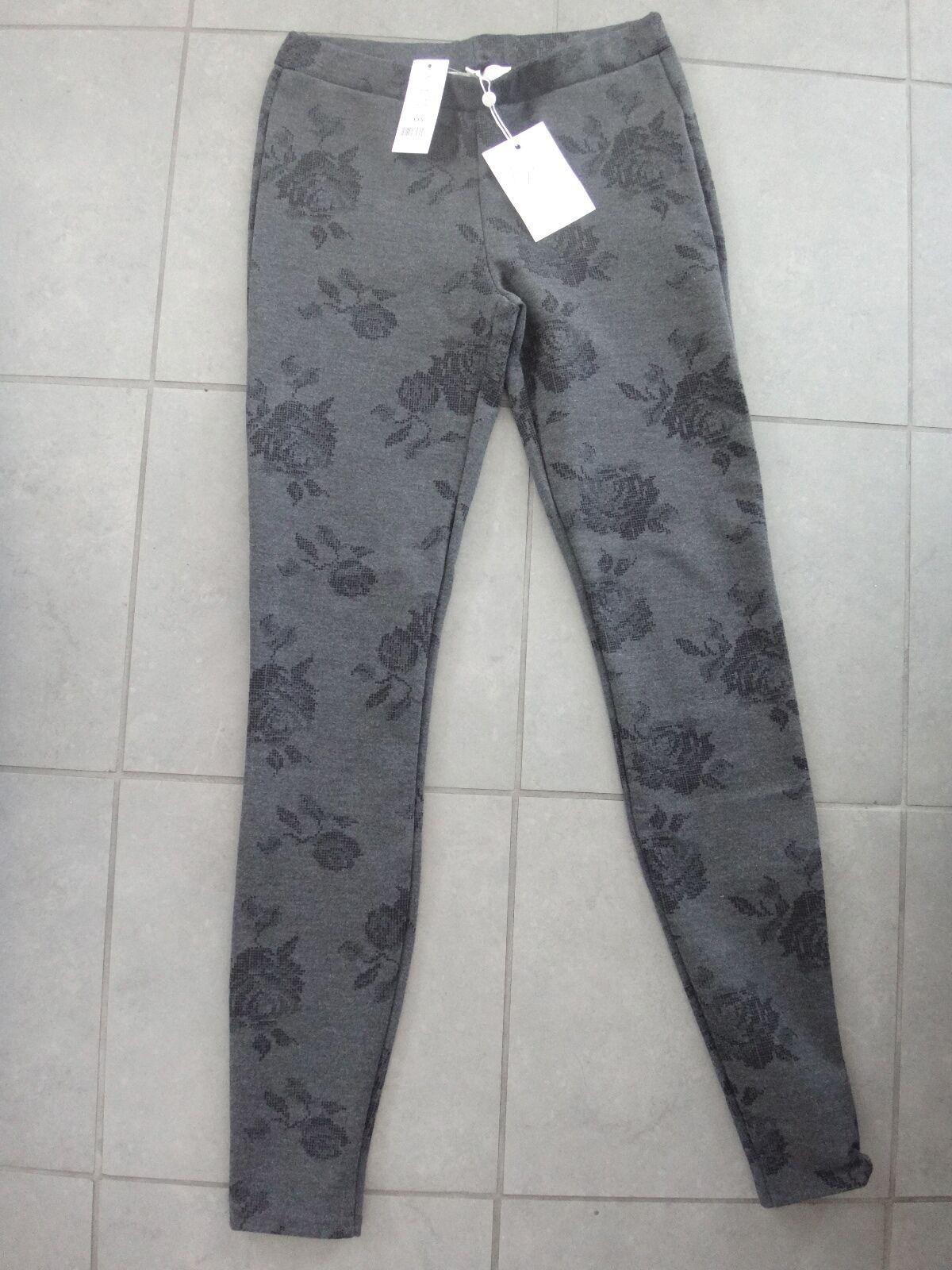 Joie Leggings Keena Printed Floral Ponte pants in charcoal heater XXS NWT