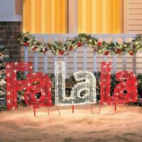 Sale Outdoor Lighted Pre Lit Christmas Song Yard Sign Display Holiday Decoration