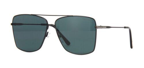 01V G Tom Ford MAGNUS-02 FT 0651 Shiny Black//Blue Sunglasses