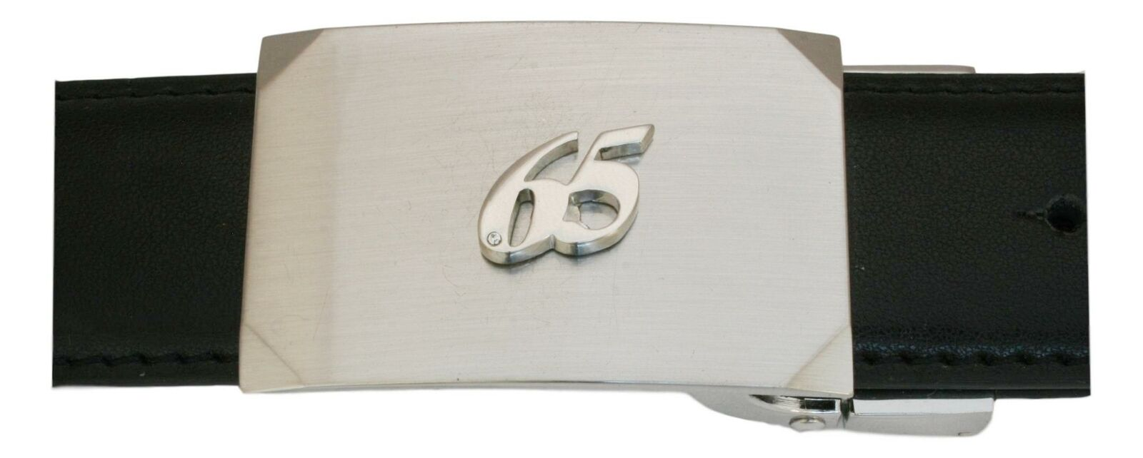 65th Birthday Leather Belt and Buckle Set In Gift Tin Mens Gift 531