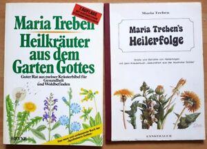 2-Buecher-Maria-Treben-Heilkraeuter-Heilerfolge-Medizin-Naturkunde-Apotheke-Gott