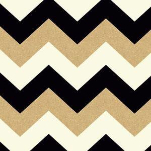 Image Is Loading GLITTERATI WHITE BLACK GOLD GLITTER CHEVRON WALLPAPER ARTHOUSE