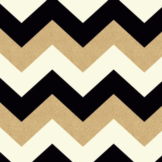 Glitterati White Black Gold Glitter Chevron Wallpaper Arthouse 892300 Zigzag