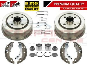 FOR-VAUXHALL-CORSA-C-MK2-00-REAR-BRAKE-DRUMS-SHOES-FITTING-BEARING-KIT-WITH-ABS