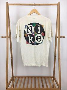 RARE-VTG-Nike-Men-039-s-Urban-Jungle-Swoosh-Spellout-Short-Sleeve-T-Shirt-L-USA