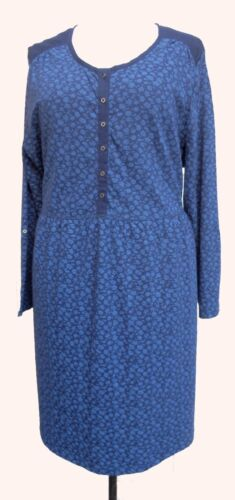 Sheego Blue Floral Print Cotton Tunic SIZES 24-32