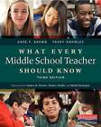 What Every Middle School Teacher Should Know by Dave F Brown, Trudy Knowles (Paperback / softback, 2014)