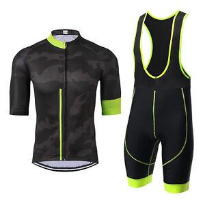 2915ecf7cdd228 Men s Black Cycling Jersey Shorts Half Sleeve Bike Clothing Bicycle ...