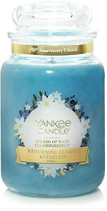 ☆☆SPLASH OF RAIN☆LARGE YANKEE CANDLE JAR 22 OUNCE☆GREAT SCENT FREE FAST SHIPPING