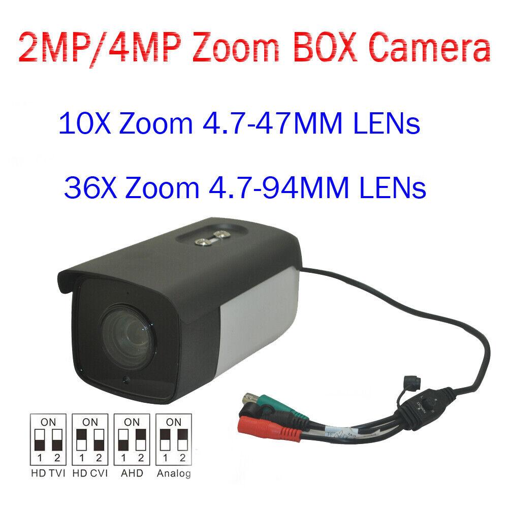 2 4M 10X 36X Zoom dispositivo antimanipulación TVI CVI & Caja de exteriores CCTV Híbrido CVBS 4In1 Cámara al aire libre