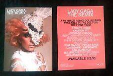LADY GAGA THE REMIX Rare Promotional Photo Postcard 6x8 Mini SM PROMO POSTER