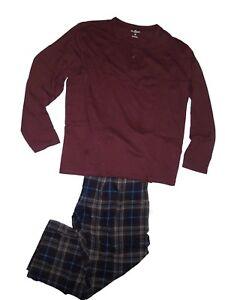 2xl Xxl Woolrich uomo Set Henley pigiama lana in Top da di 722457803217 da uomo da flanella invernali Pantaloni g1FgZqx