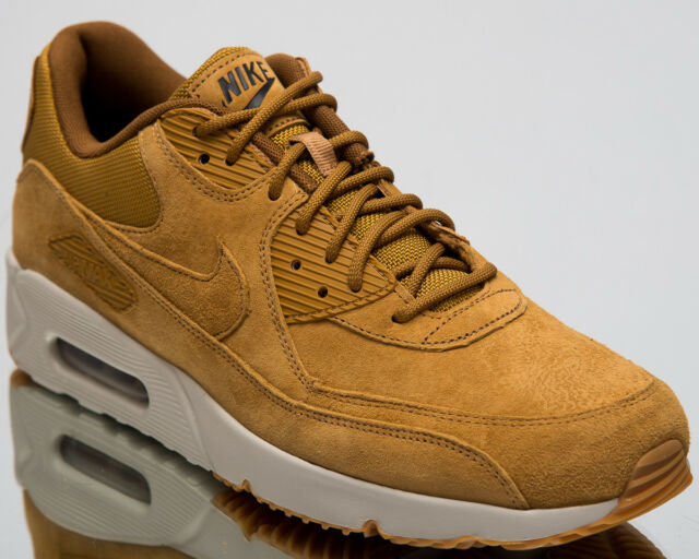 uk availability 765b5 364e1 Nike Air Max 90 Ultra 2.0 Leather Men New Wheat Lifestyle Sneakers  924447-700