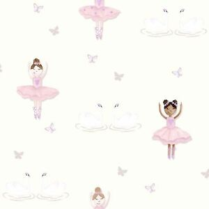 Ballerine-Papier-Peint-Creme-Rose-Holden-Decor-12461-Paillette-Sparkle