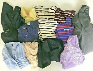 13-lot-women-039-s-tops-SHIRTS-size-Medium-MED-L-L-Bean-THEORY-IZOD-J-CREW-Blouses-M