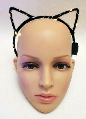 Flashing Cat EARS Led Hairband Dance Festival FANCY DRESS HALLOWEEN x 1PC new