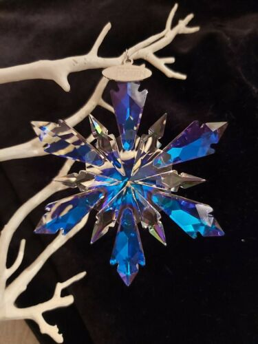 Frozen Swarovski Element Effect Snowflake Christmas Tree Ornament Decoration