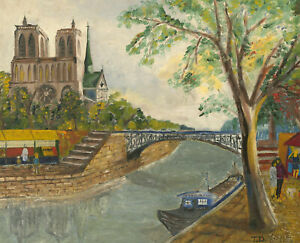 T.D. - 20th Century Oil, View of the Notre-Dame
