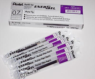 6 X  packs Pentel Energel Pen Gel Ink Refill 0.7mm VIOLET PURPLE. INK