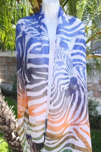 Neu Zebramuster Tiermuster Schier Sarong Bikini Bedeckung Schal Halstuch Rock
