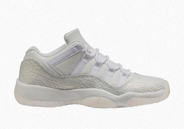 3cba01b8650 Grade School Youth Size Nike Air Jordan Retro 11 Low Premium 897331 100  Frost