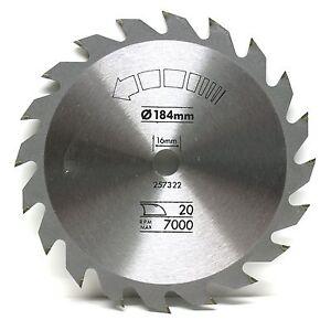184mm tct circular saw blade 184 x 16 20t bosch dewalt skil ebay image is loading 184mm tct circular saw blade 184 x 16 keyboard keysfo Image collections