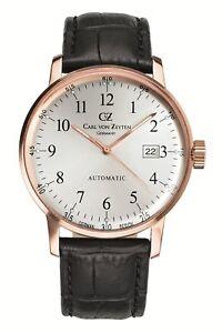Carl-von-Zeyten-Lederband-Automatik-Herren-Uhr-Neu-Gutach-CvZ0009RWH