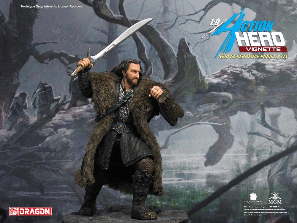 Dragon Modelos Hobbit La desolación de Smaug Thorin Oakenshield Estatua Pintada 1 9