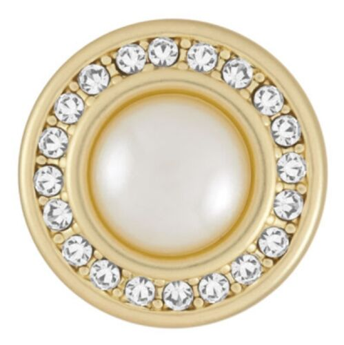 GET 5TH $6.95 SNAP FREE Standard Size GINGER SNAP MATTE GOLD  MISS PEARL BUY 4