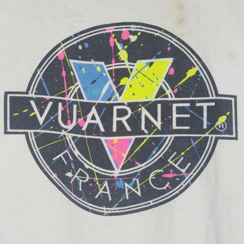 Vtg 90s Vuarnet France Paint Splatter T-Shirt L Li