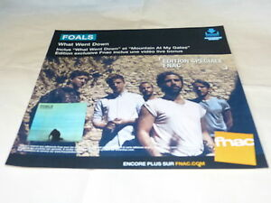 Foals-What-Went-Down-French-Record-Promo-Adv-Display