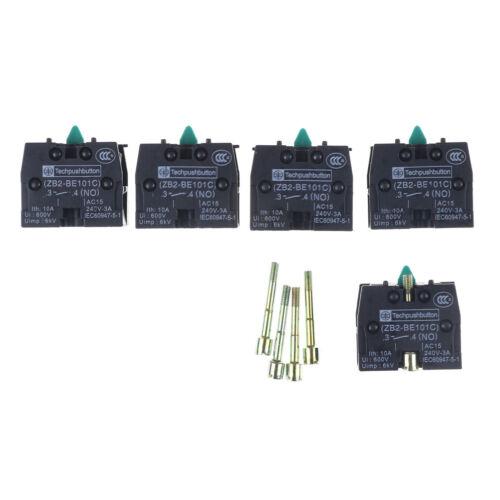 5PCS ZB2-BE101C Bloque De Contacto Interruptor de botón de productos de la serie XB2 JX