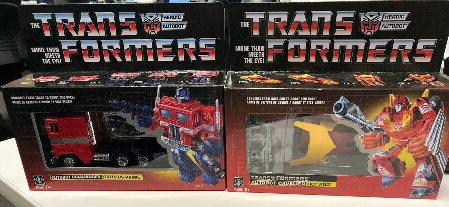 TRANSFORMERS G1 REISSUE OPTIMUS PRIME and HOT ROD WALMART EXCLUSIVES Free ship