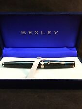 BEXLEY Fountain Pen - 2009 Owners Club Ltd. Ed. - Blue / Black Ebonite - NEW
