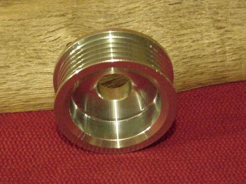 "Pulley Alternator 5 Groove Serpentine Belt 0.67/"" 17mm ID 2.39/"" 60.8mm OD Fits Bo"