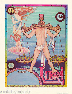 POSTER: ZODIAC #12-494  RBW1 X LIBRA by FERET SIGNED