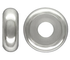 1 STERLING SILVER STOPPER BEAD WITH SILICONE CENTRE / INSERT, 7 MM, HOLE: 3 MM