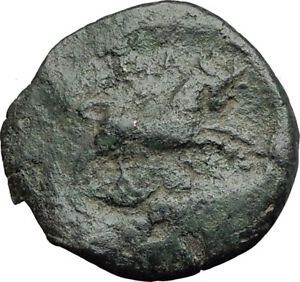 THESSALONICA-in-Macedonia-1stCenBC-Authentic-Ancient-Greek-Coin-ZEUS-BULL-i63784