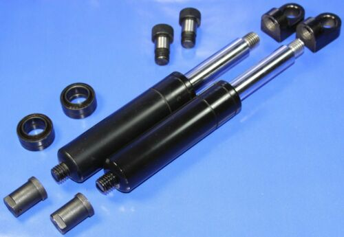 M12 900lbs 2 Bolt On Lambo Vertical Door Kit Shocks with 8 Fitting Ends