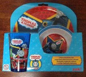 Image is loading Thomas-The-Tank-Engine-And-Friends-Three-Piece- & Thomas The Tank Engine And Friends Three Piece Dinner Set By Zak ...