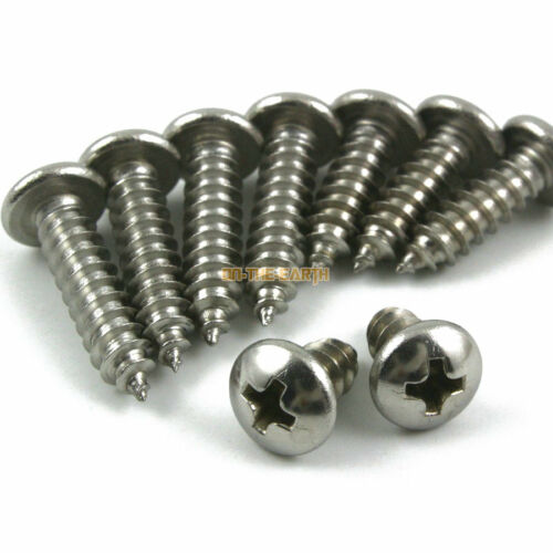 30 Pieces M5*40mm 316 Stainless Steel Phillips Pan Head Self Tapping Screw