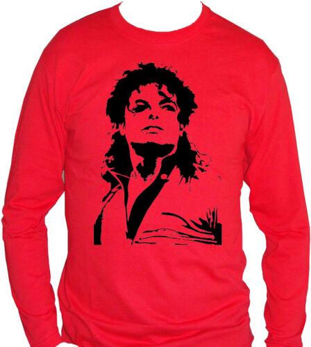 fm10 t-shirt manica lunga unisex 3 MICHAEL JACKSON jacko king of pop MUSICA