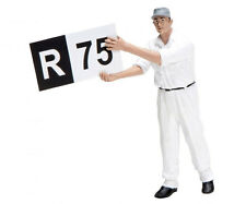 Schuco  Trackside Pit Crew Member with Board - 1/18 Scale Die-cast Figurine