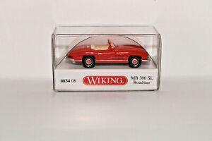Wiking-083408-1-87-MB-300-Sl-Roadster-Orange-Neuf-Emballage-D-039-Origine